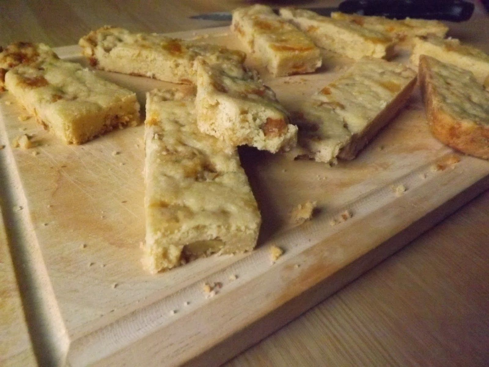 Terrys chocolate orange drizzled apricot and walnut shortbread fingers from my blog I'd Much Rather Bake Than...
