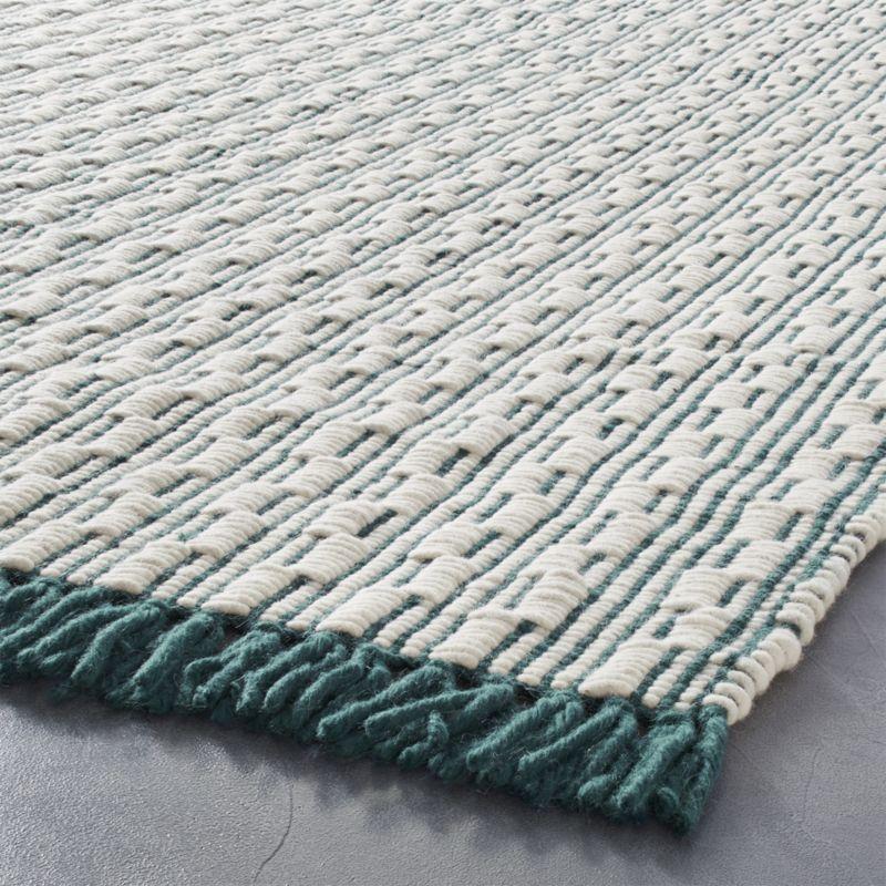 Centipede Blue Green Natural Wool Rug 5 X8 Cool Rugs Rugs Modern Area Rugs
