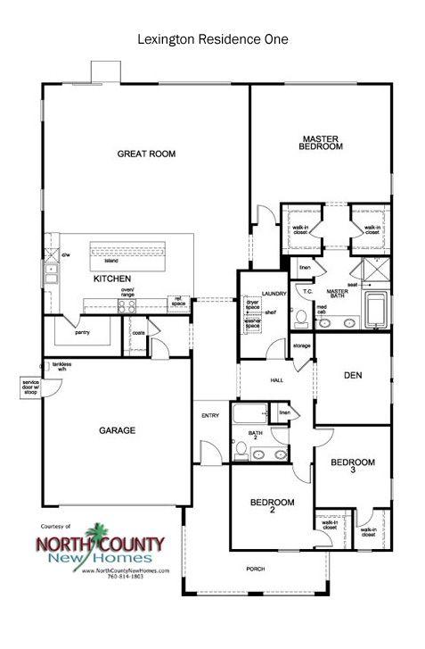 Lexington Floor Plans New Homes In Escondido 1 2 Story New Homes Floor Plans How To Plan House Floor Plans