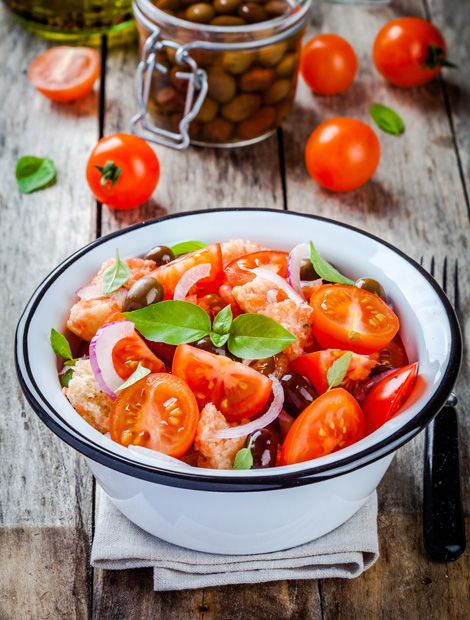 Marvelous Panzanella Brotsalat mit Tomaten und Fenchel Rezept auf wohnen und
