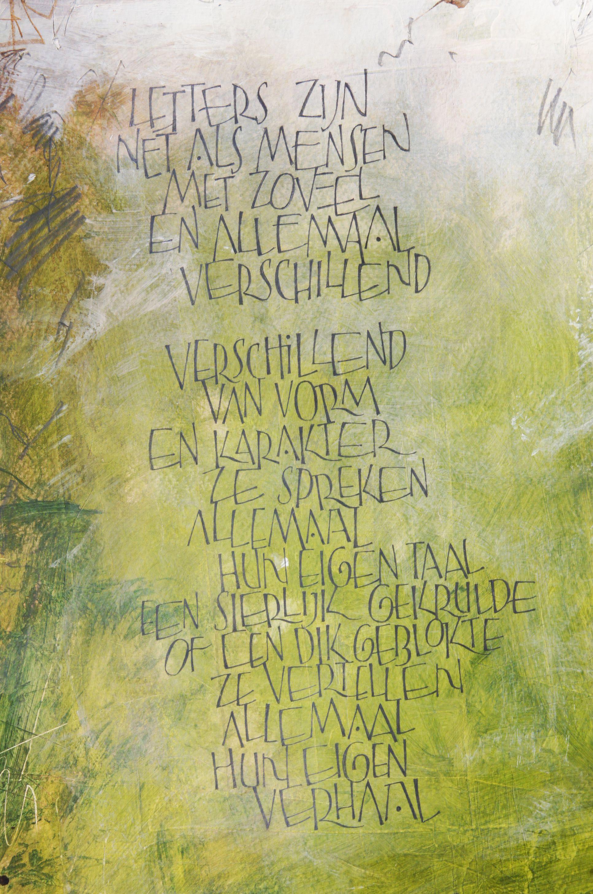Letters zijn als mensen tekst en ontwerp andr ooms 2016 Pinterest calligraphy