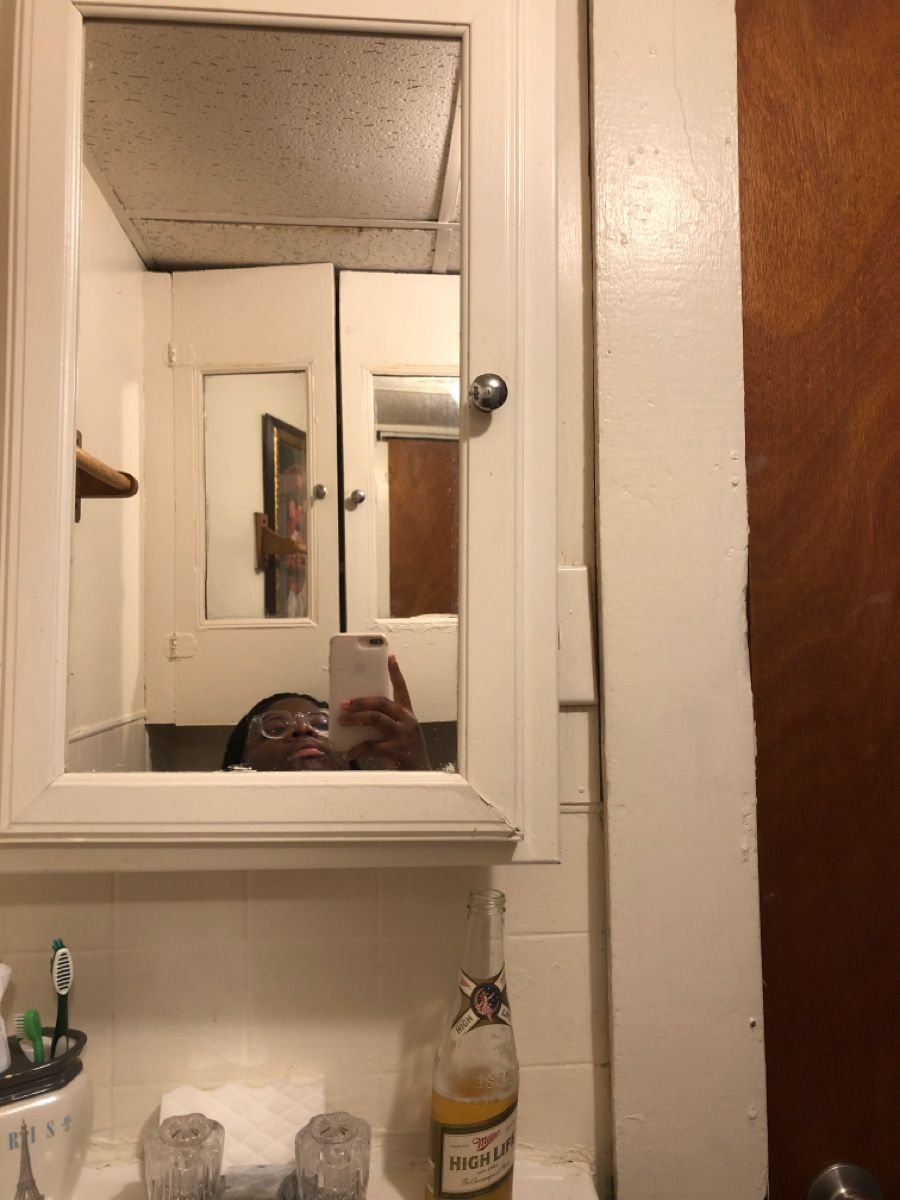 Pin by Anj on bath   Framed bathroom mirror, Bathroom
