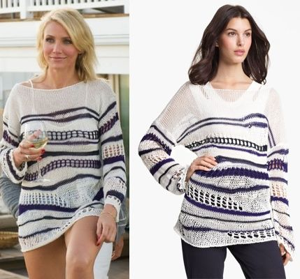 The Other Woman Movie: Carly's (Cameron Diaz) black/navy striped ...