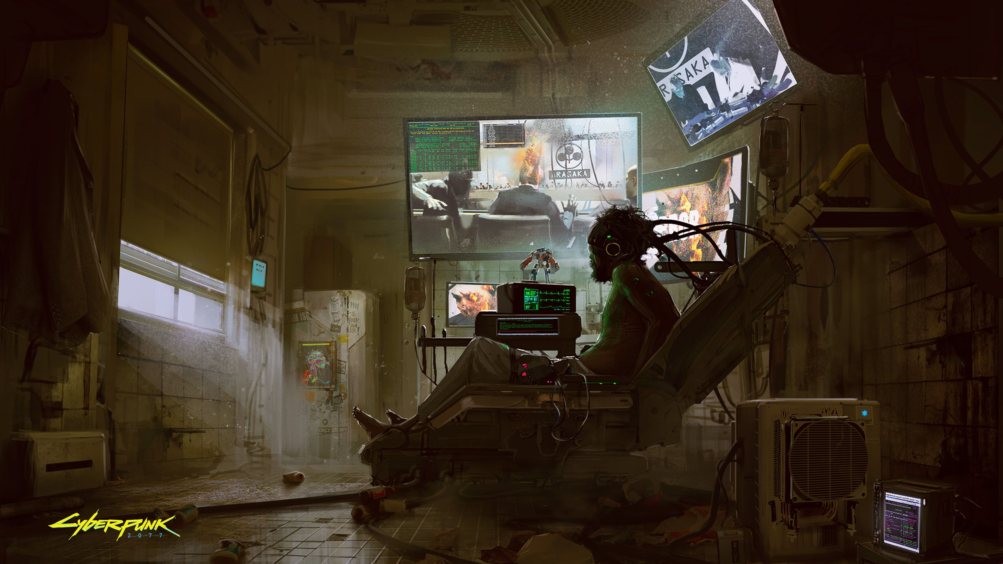 Man Lying On Chair Wallpaper Cyberpunk Cyberpunk 2077 Cyborg Video Games Fantasy Art Chinese 4k Wallpaper Hdwall Cyberpunk 2077 Concept Art Cyberpunk Art