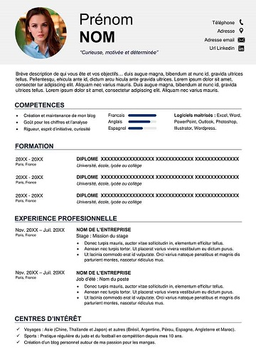 Exemple De Cv Etudiant Cv Resume Share Exemple De Cv Etudiant Cv Etudiant Exemple Cv