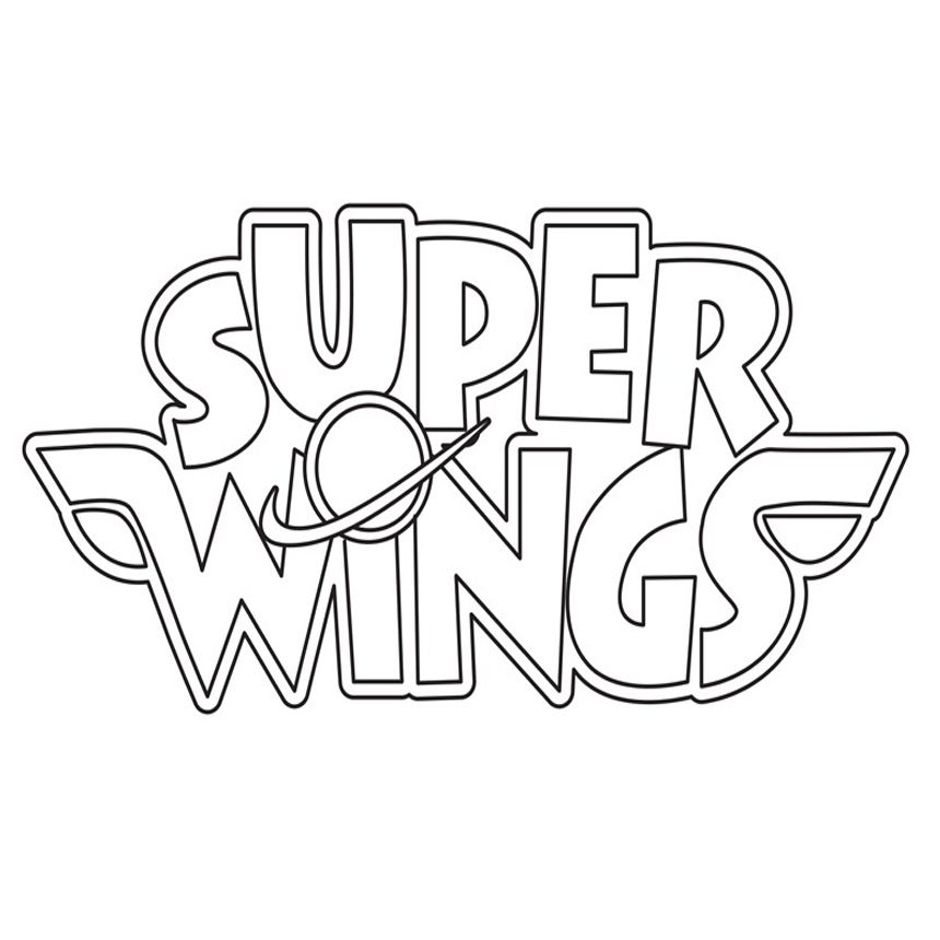 Super Wings Logo Coloring Pages for Kids Printable