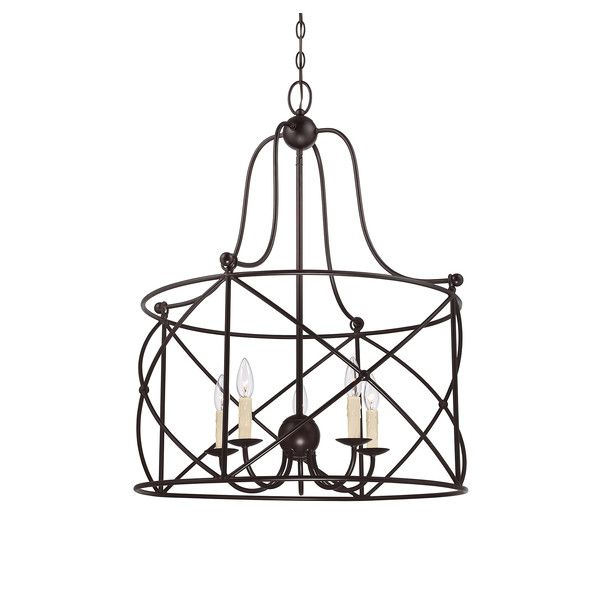 Topsham 5 Light Pendant Geometric Chandelier Pendant Lighting Stylish Pendant Lighting