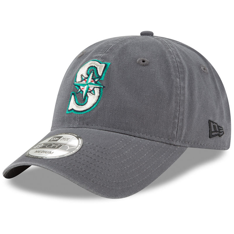 930aefcb445 Seattle Mariners New Era Core 49FORTY Fitted Hat - Graphite ...