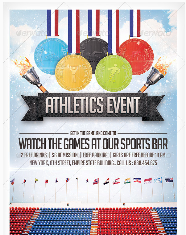 Athletics Sports Flyer Party Flyer Templates For Clubs Business