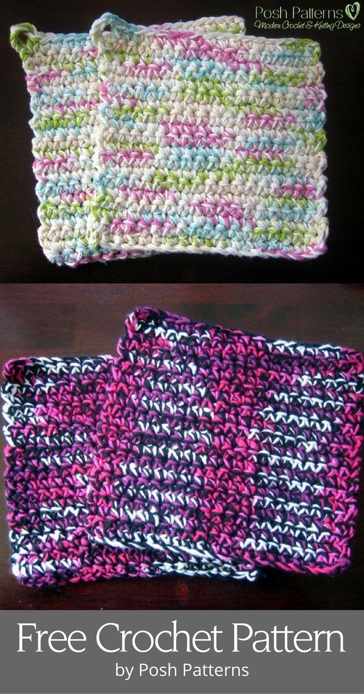 Free Pot Holders Crochet Pattern | Easy crochet, Free crochet and ...