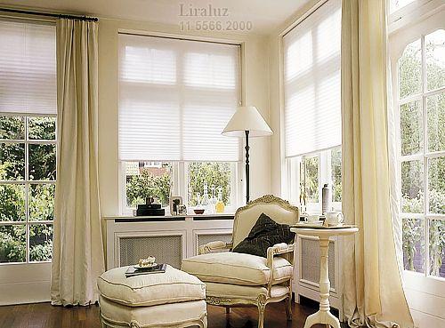 cortinas-para-sala-cortina-para-sala-romana-com-persiana-03 ideas - persianas modernas