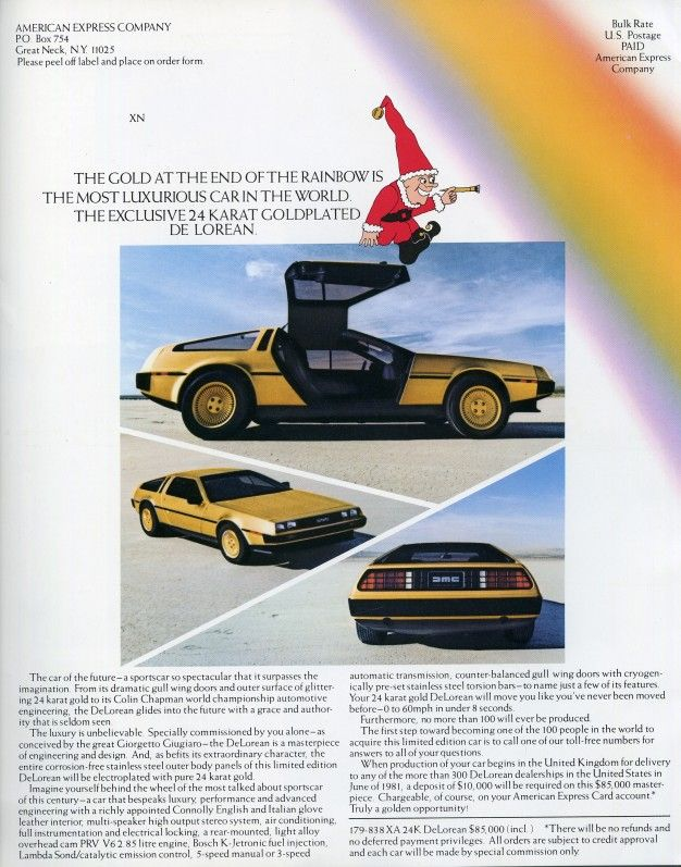 This 24-Karat Gold DeLorean Was a Real Thing - Autou0027s, Goud en - vehicle order form