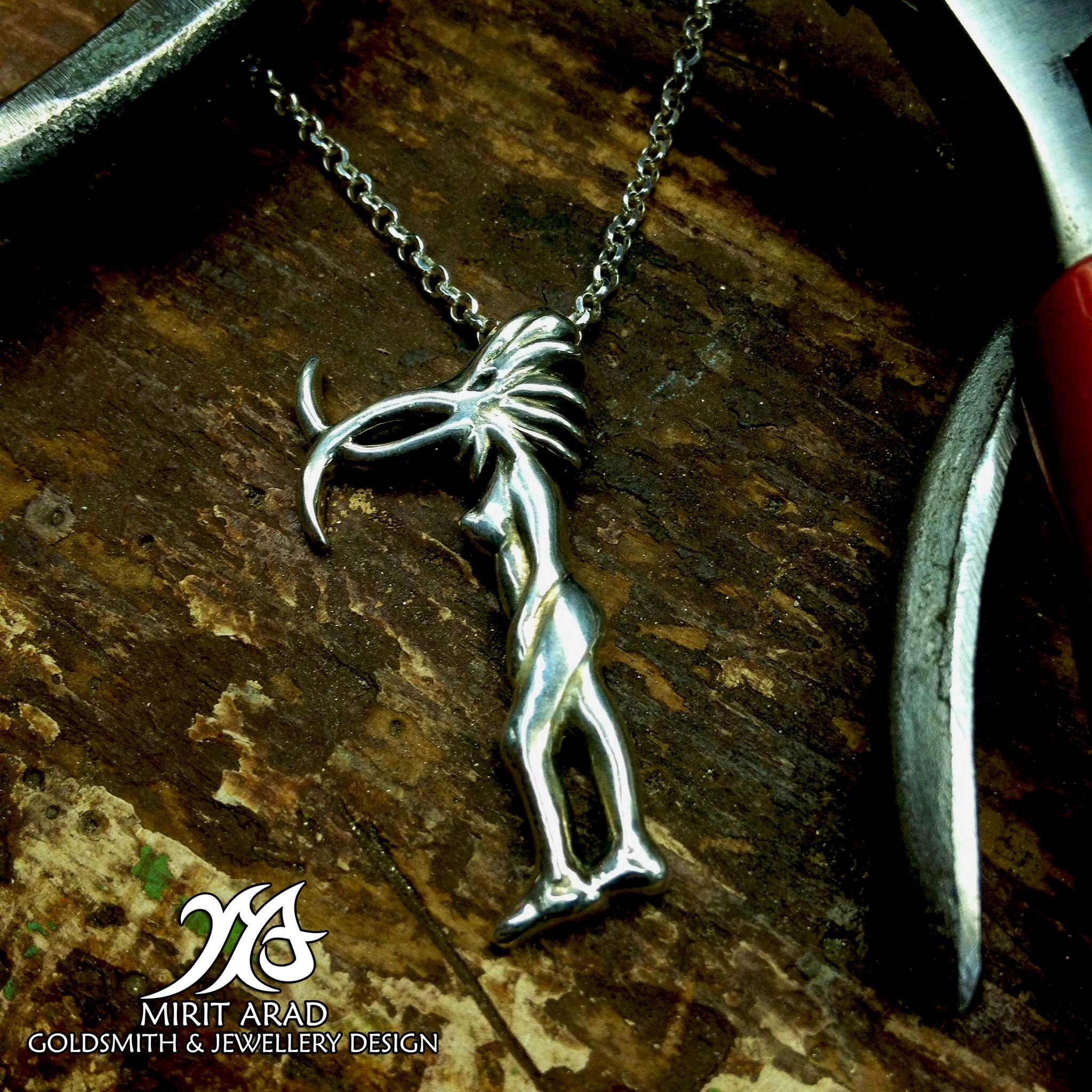 Depeche Mode Ladybird sterling silver handmade pendantbird pendant