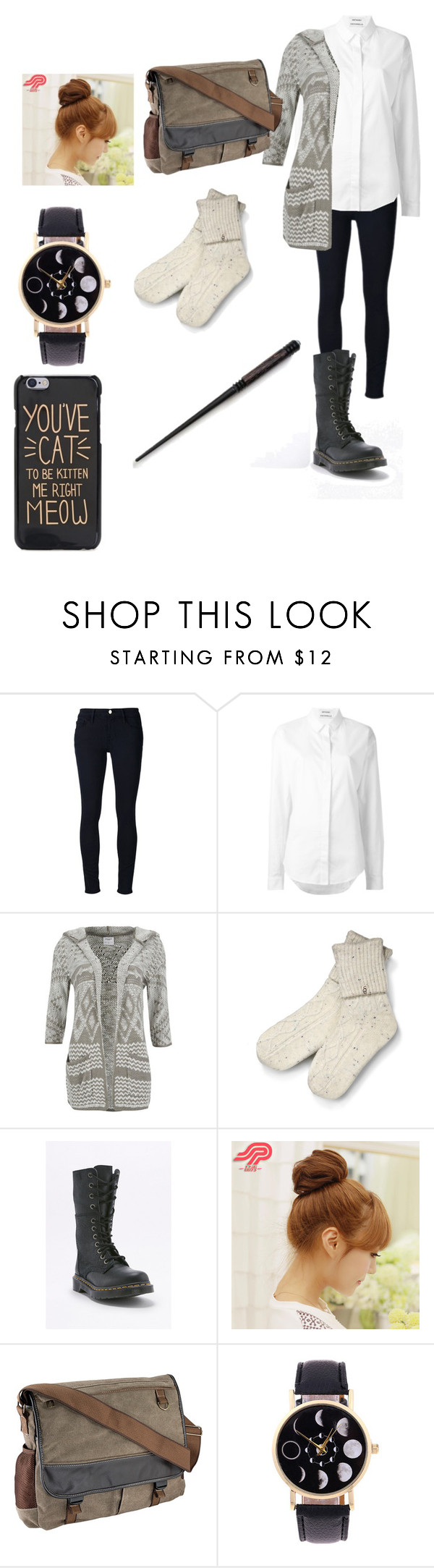 """""""Untitled #627"""" by jettcc on Polyvore featuring Frame Denim, Anthony Vaccarello, Vero Moda, UGG, Dr. Martens and Pin Show"""