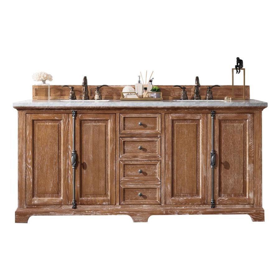 James Martin Vanities Providence 72 In Driftwood Double Sink