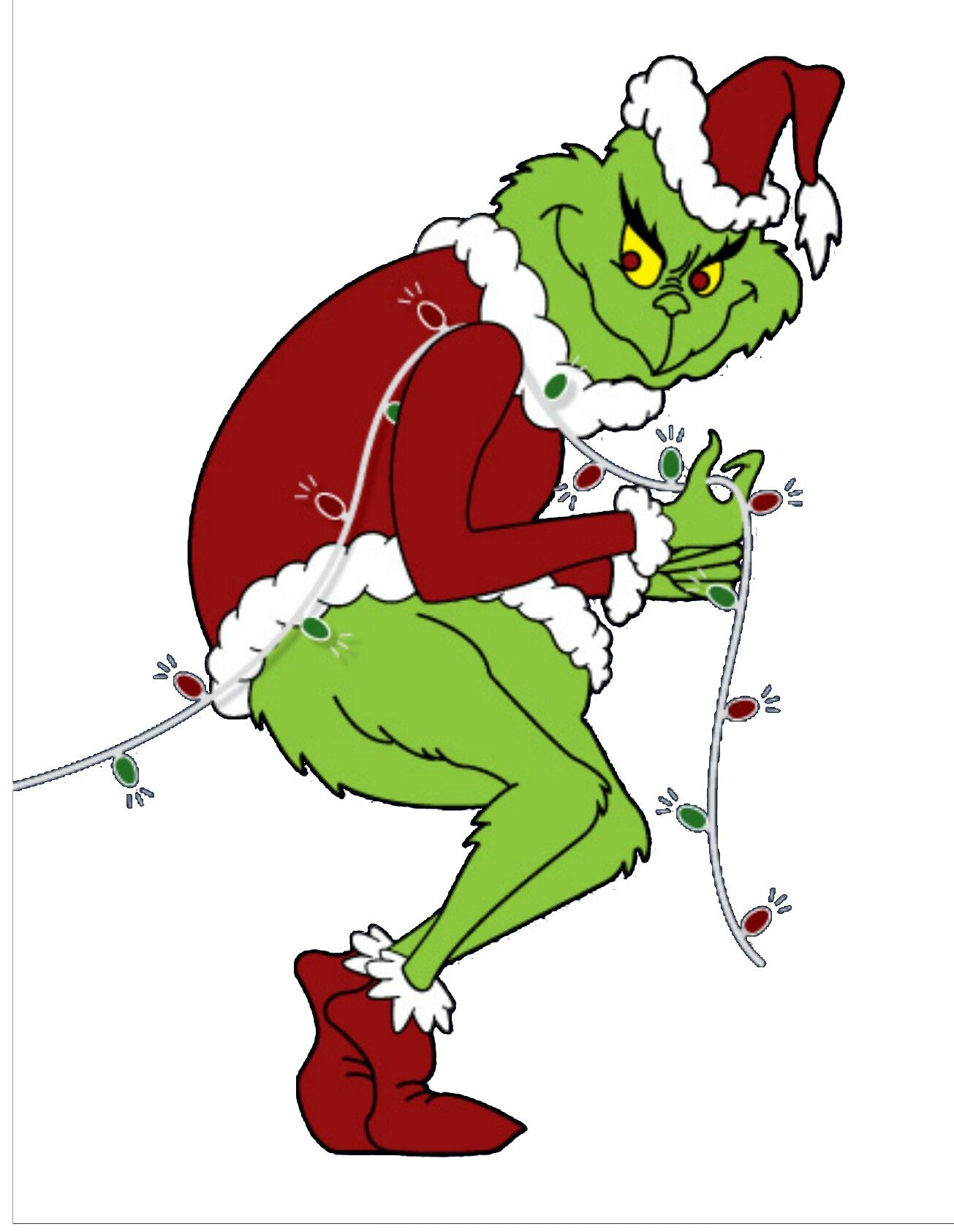 Slobbery image within printable grinch images