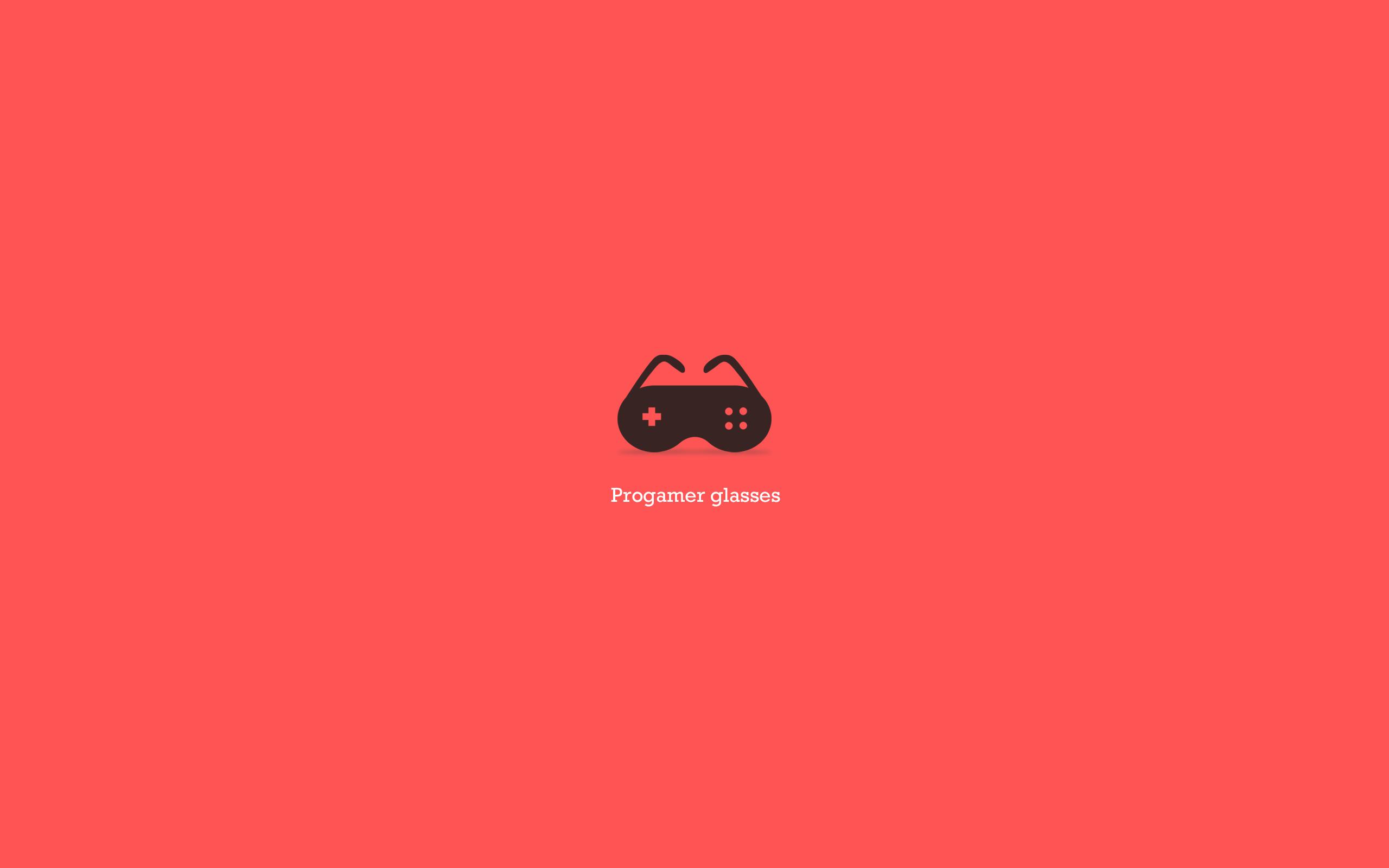 Progamer glasses minimalist wallpaper red High