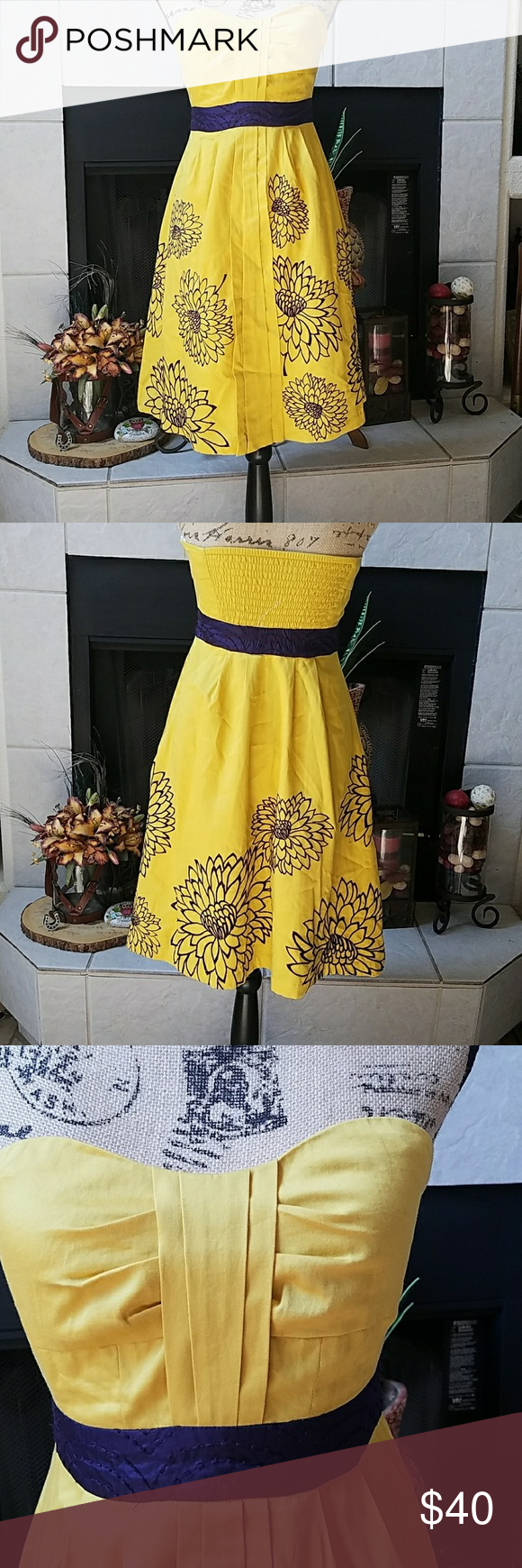 Anthropologie By Floreat Dress Pinterest Yellow Dress