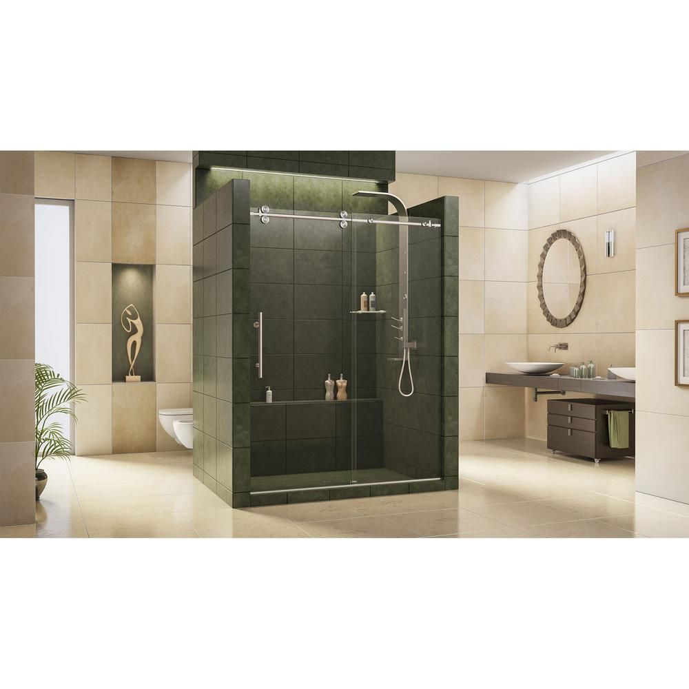 Dreamline enigma in to in x in frameless sliding shower