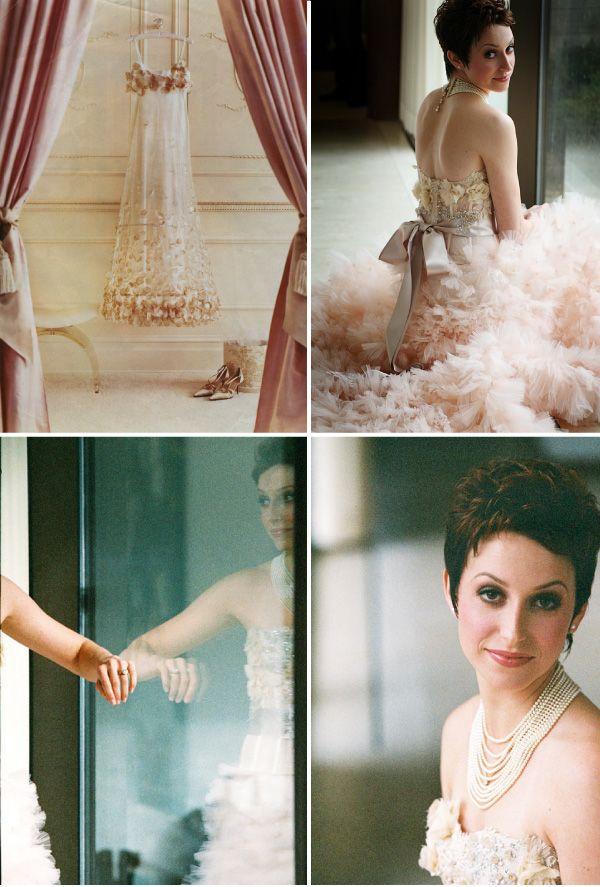 Blush Pink Wedding Gown from Martha Stewart Weddings