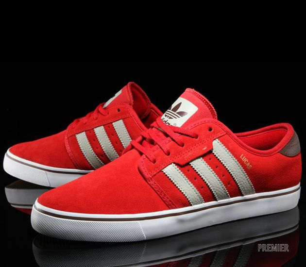 "premium selection b7634 bc70f adidas Skateboarding Seeley ""Lucas"" – University Red   Sesame   I LOVE  ADIDAS   Pinterest   Zapatos rojos, Calzado y Zapatillas"