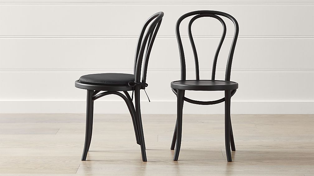 Vienna Matte Black Dining Chair And Cushion Crate And Barrel In