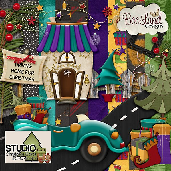 #DigitalScrapbookinStudio's Annual Christmas Carol Blog Hop: Stop by the blog of  #BoolandDesigns #digitalscrapboooking #theStudio