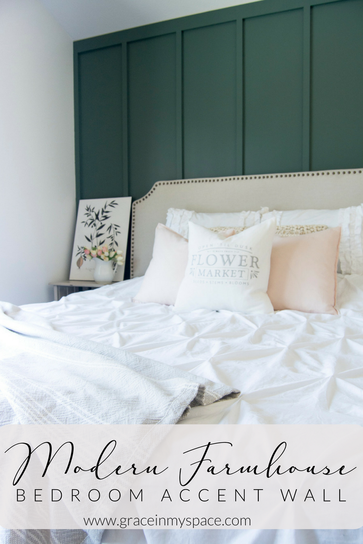 Modern Farmhouse Bedroom Accent Wall Master Bedroom Makeover Accent Wall Bedroom Master Bedrooms Decor Master Bedroom Makeover
