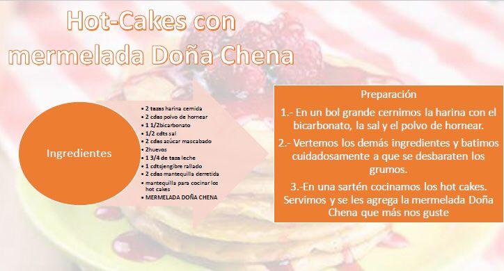 Algo rápido, sencillo y delicioso para desayunar en estas vacaciones? Qué tal unos hot cakes acompañados con el sabor de tu mermelada Doña Chena favorita!