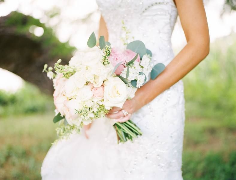 White And Pink Wedding Bouquet Summer Flowers