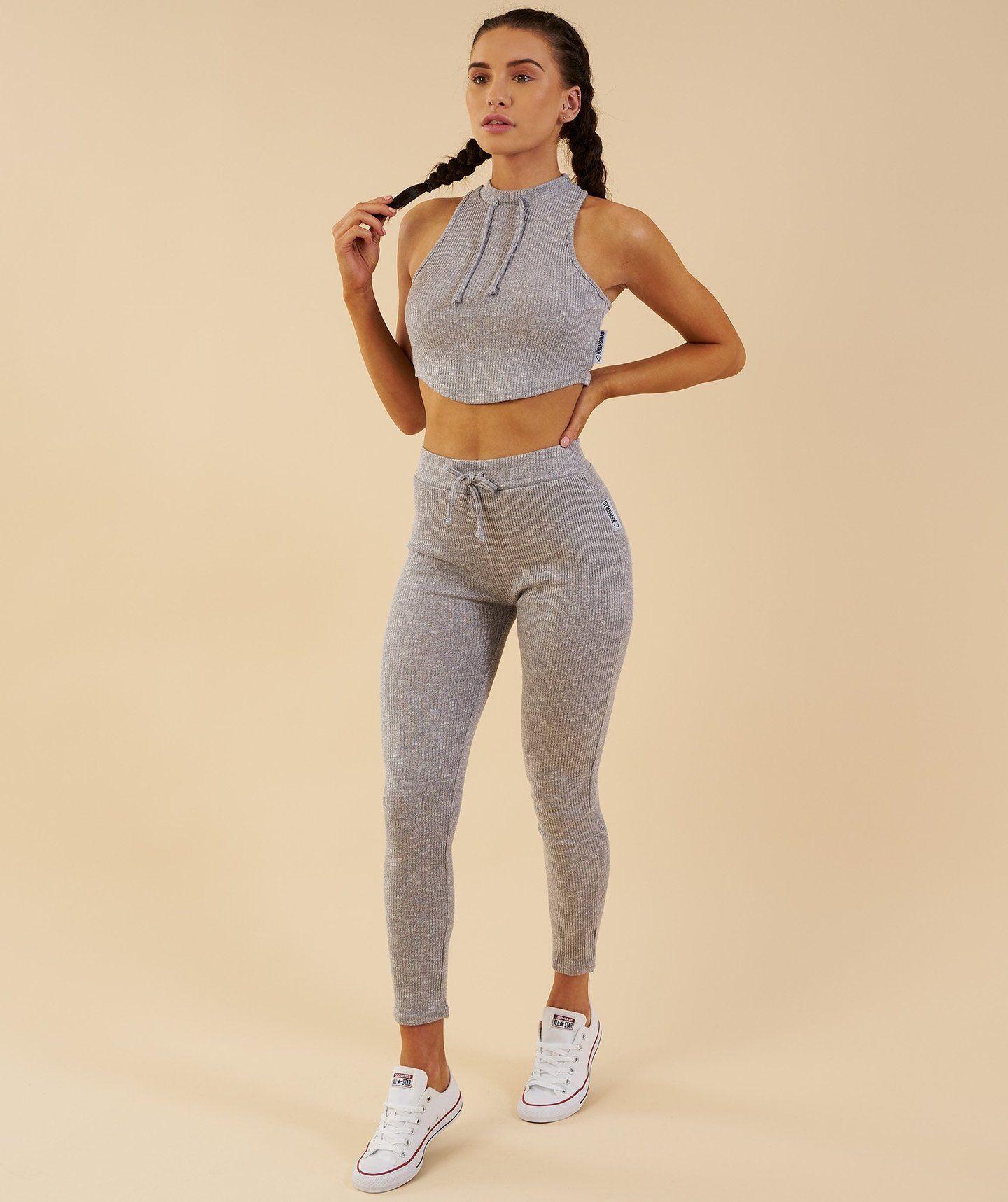 77172a697cfbc Gymshark Slounge Leggings - Light Grey Marl | Gym clothes | Tops for ...