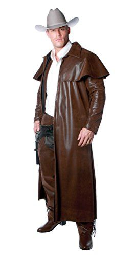 Mens Old Western Cowboy Duster Coat Brown Xxlarge Plus Check Out This Great Product Cowboy Duster Mens Duster Coat Mens Costumes