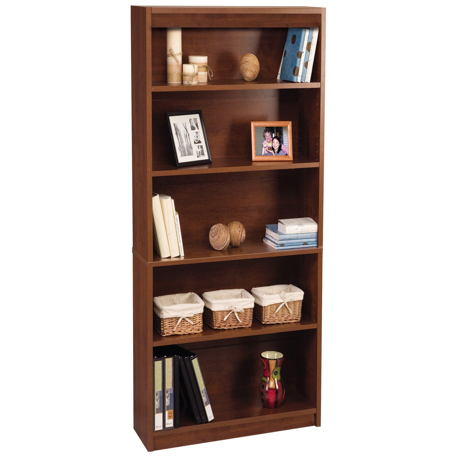 d6d11baa30cb0492cf1c2b6f20747902 - Better Homes And Gardens Crossmill 5 Shelf Bookcase Multiple Finishes