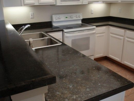 Ubatuba Granite Countertop Painted Over Laminate