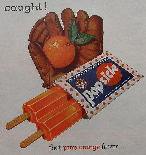 1950s POPSICLE ICE CREAM Advertisement Vintage Illustration old