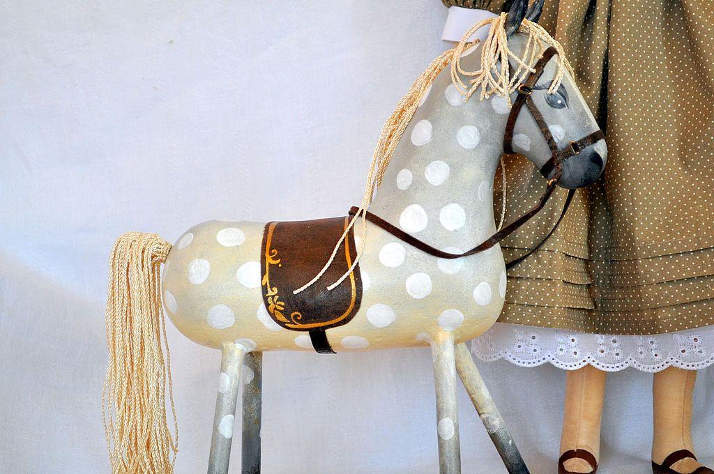 Купить Белогривая лошадка... - коллекционная кукла ...