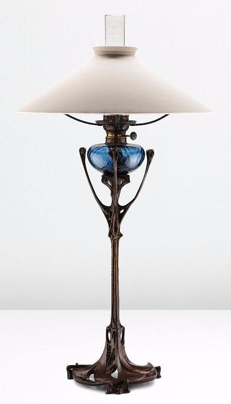Rare Art Nouveau Table Lamp By Hector Guimard From The Maison Coilliot In Lille Ca 1900 Art Nouveau Lighting Art Nouveau Lamps Art Deco Lamps