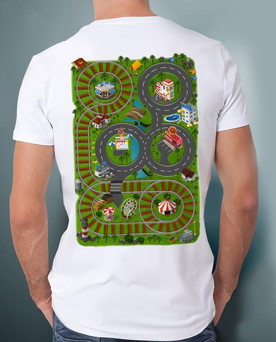 ee517dc4 Car Play Mat Shirt for Dad. Race Track Shirt. Play set shirt, Road Map Shirt.  Massage Shirt. Father'