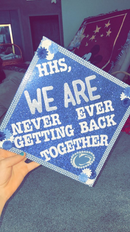 High school to penn state graduation cap with taylor swift lyrics