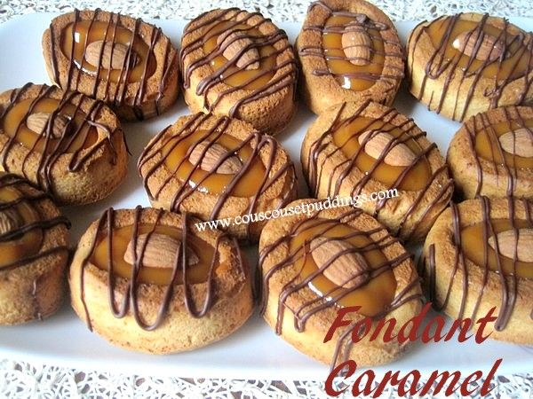 Fondants au caramel ou à la confiture de lait ,Recette Mme Benberim, ,  Couscous et Puddings