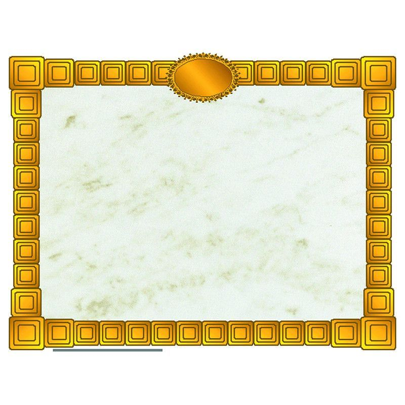 Gold Block Certificate Border Certificate Borders Pinterest