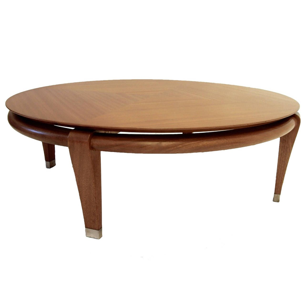Paul Laszlo for Brown Saltman Round Coffee Table in Mahogany Model 145