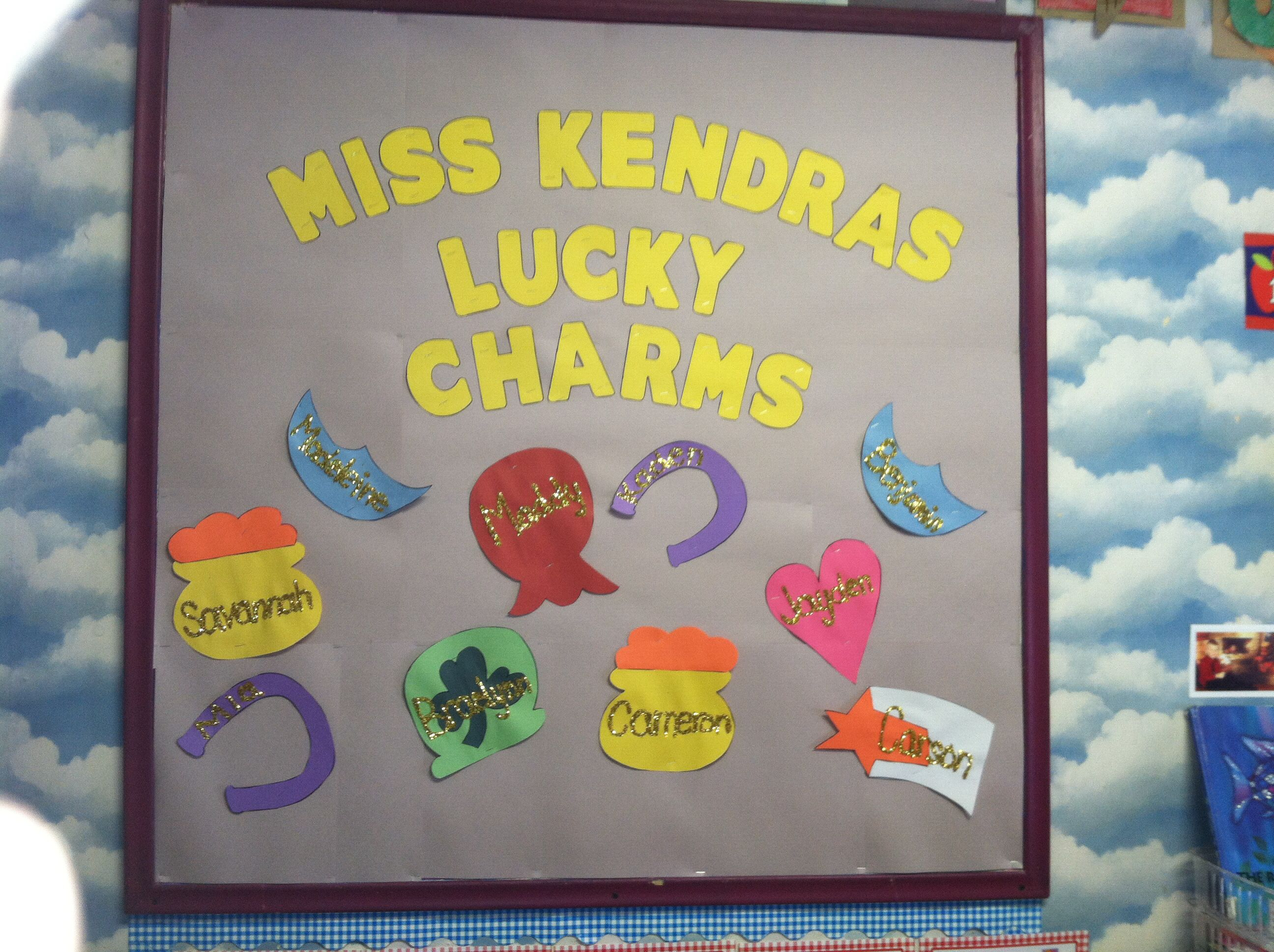 17++ Lucky charms bulletin board inspirations