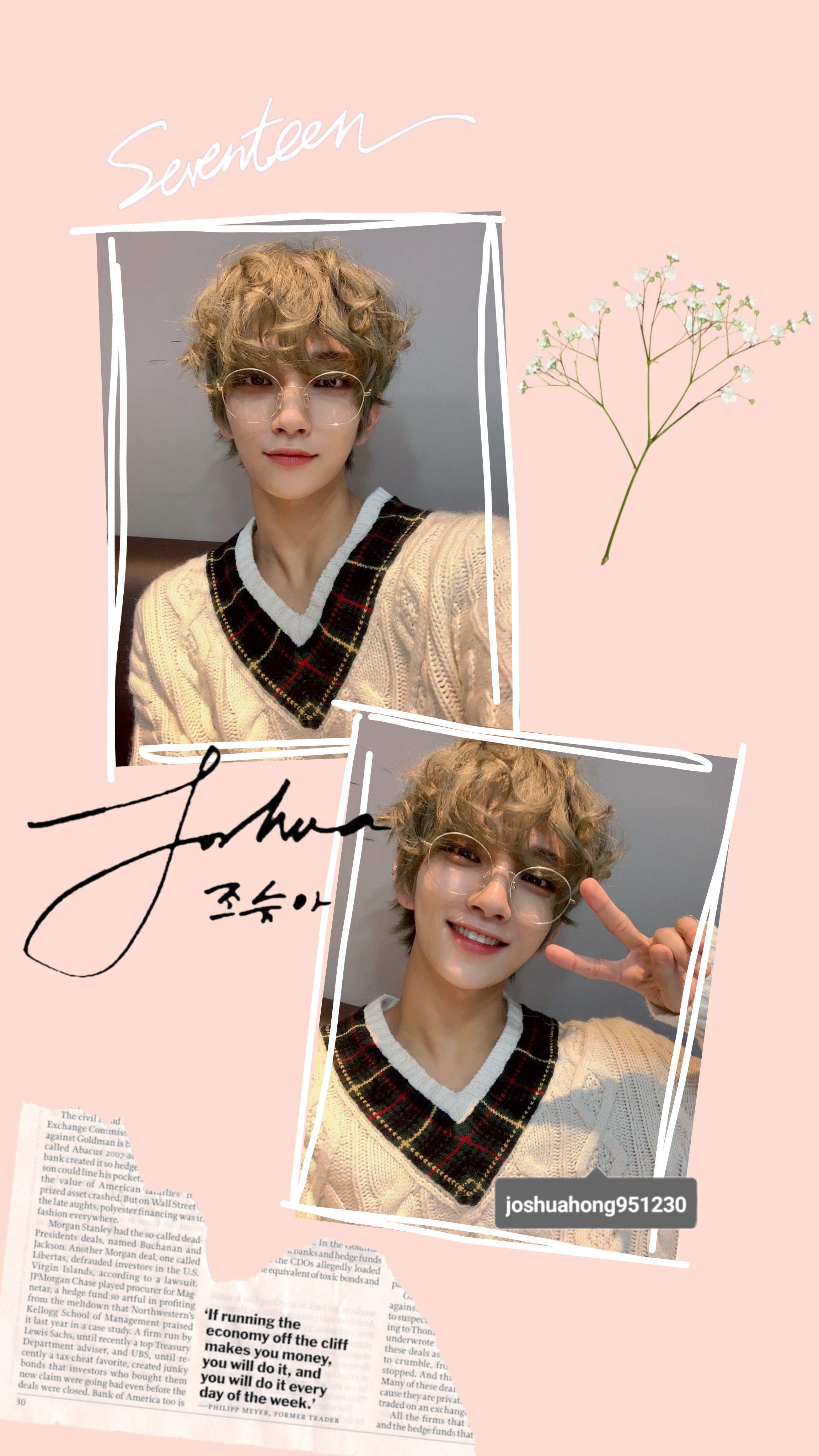Joshua Seventeen Wallpaper Cute Aesthetic Joshuahong Carat