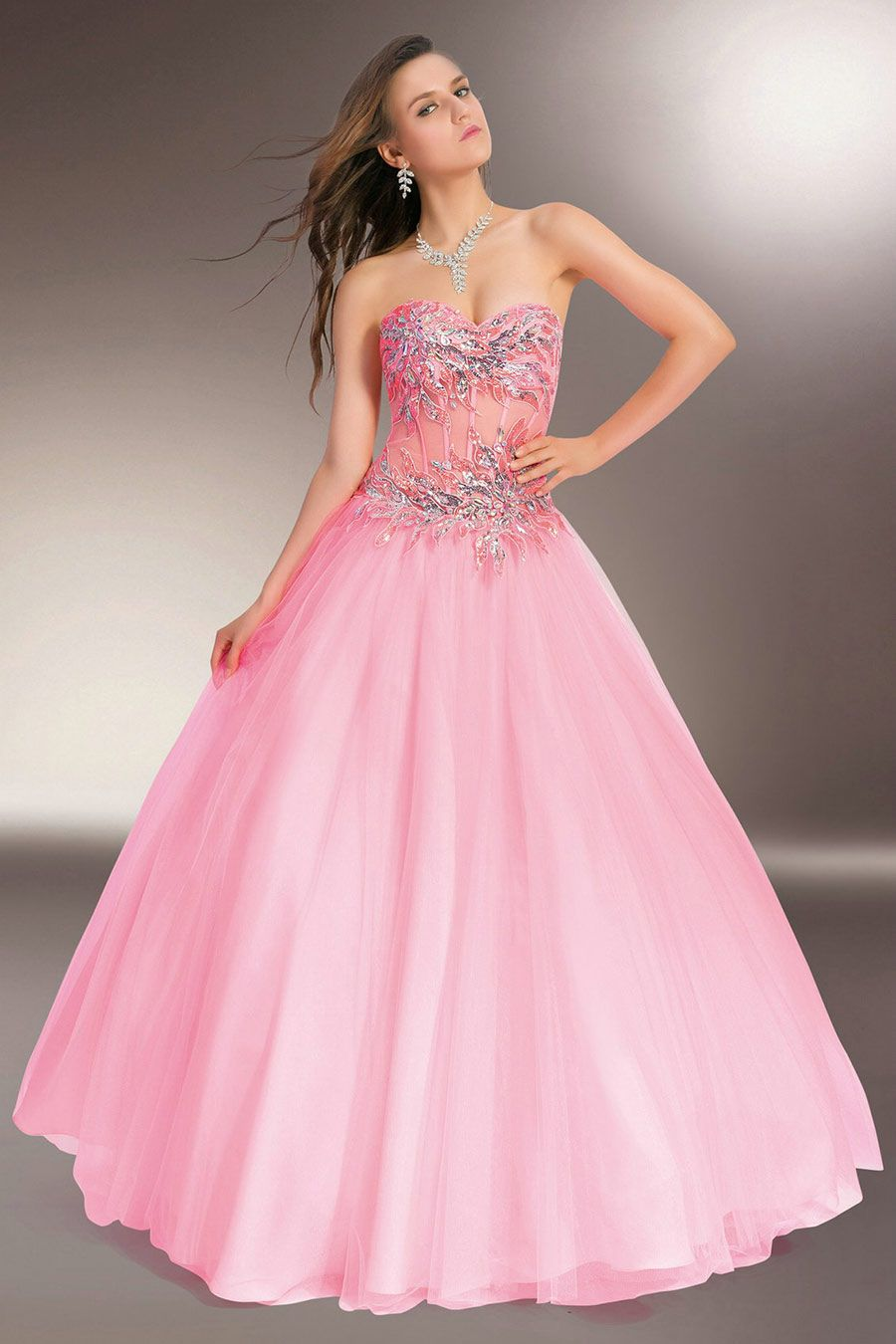 Vestidos de 15 anos largos color rosa (18) | angel | Pinterest ...