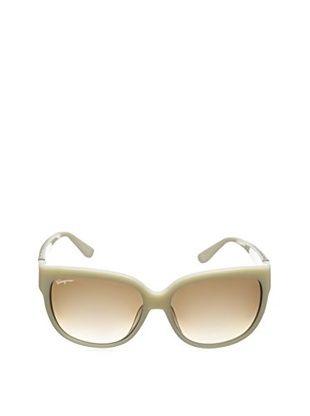 Salvatore Ferragamo Women's SF663S Sunglasses, Ivory