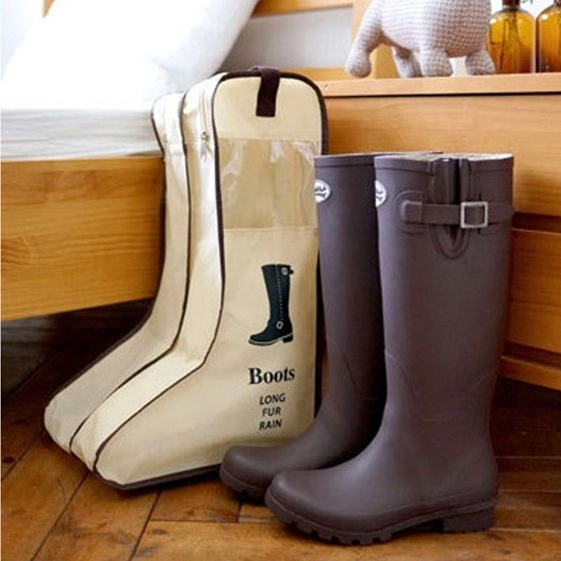 Portable Storage Bags Shoe Cover Length Boots Snow Boots Shoes Storage Bag Visualization Dustproof Shoe Storage Bags Shoe Bags For Travel Boot Storage