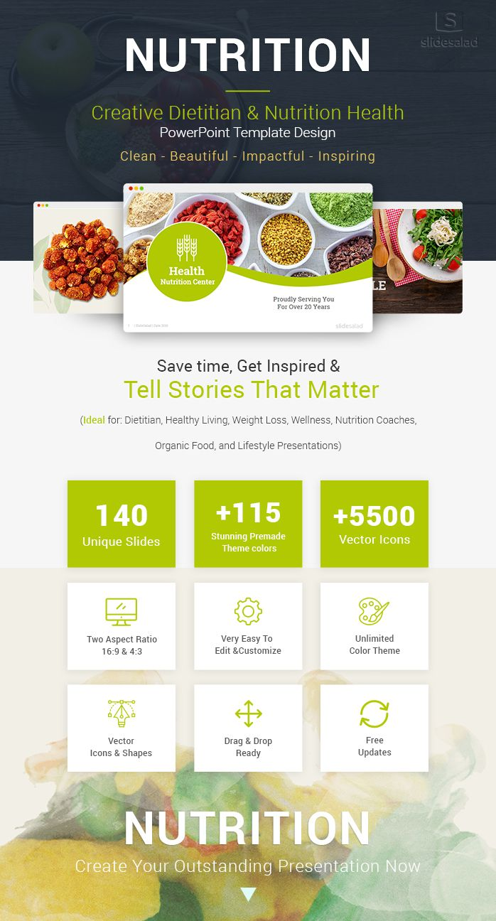 Diet And Nutrition Powerpoint Template Designs Diet