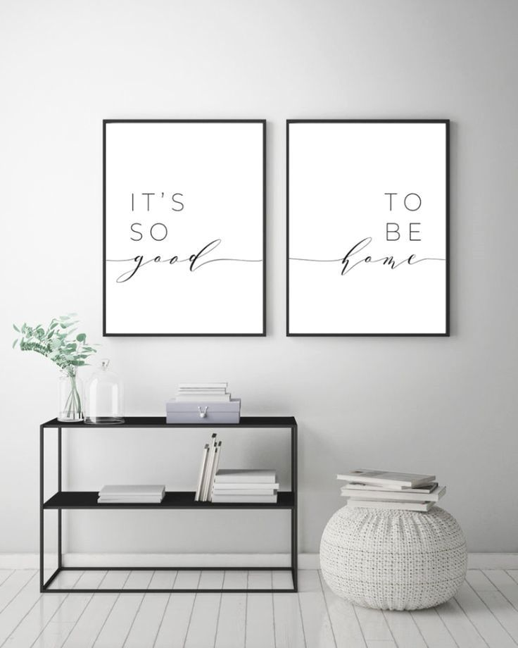 It's So Good To Be Home Printable Sign Set, Bedroo