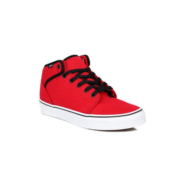 Vans 106 Mid Womens Mens Red Trainers Shoes (High top